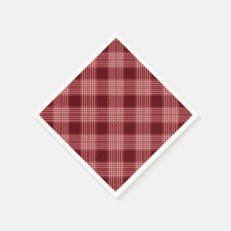 Red And White Plaid Paper Napkins