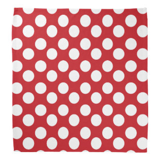 Red and White Polka Dot Bandana