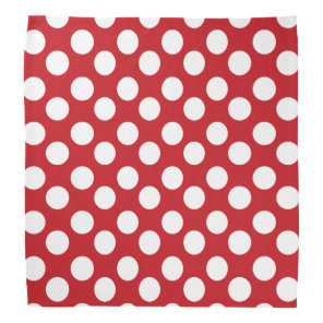 Red and White Polka Dot Bandanna