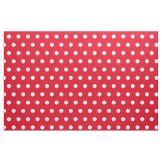 Red and white polka dot pattern fabric | Customize