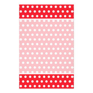 Red and White Polka Dot Pattern. Spotty. 14 Cm X 21.5 Cm Flyer