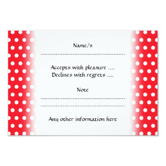 Red and White Polka Dot Pattern. Spotty. 9 Cm X 13 Cm Invitation Card