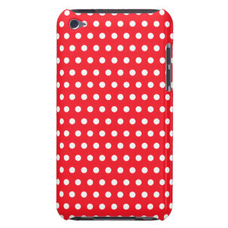 Red and White Polka Dot Pattern. Spotty. iPod Touch Cover