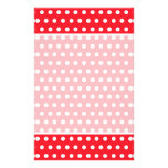 Red and White Polka Dot Pattern. Spotty. Full Color Flyer