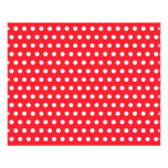 Red and White Polka Dot Pattern. Spotty. Custom Flyer