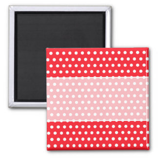 Red and White Polka Dot Pattern. Spotty. Magnet