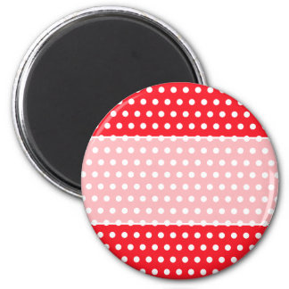 Red and White Polka Dot Pattern Spotty Refrigerator Magnet