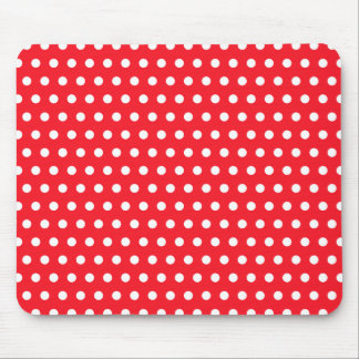 Red and White Polka Dot Pattern. Spotty. Mouse Pad
