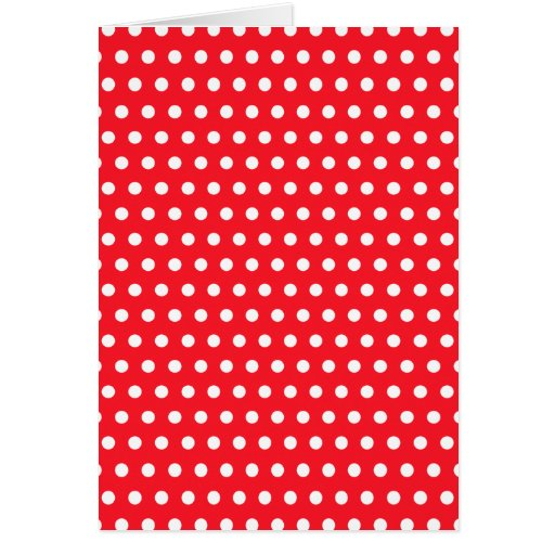 Red and White Polka Dot Pattern. Spotty. Note Card