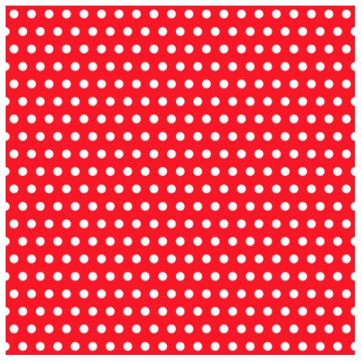 Red and White Polka Dot Pattern. Spotty. Photo Cut Out