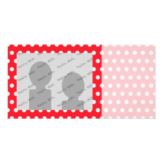 Red and White Polka Dot Pattern. Spotty. Picture Card