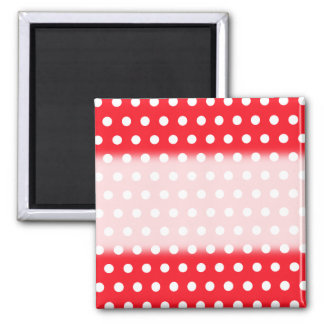Red and White Polka Dot Pattern. Spotty. Square Magnet