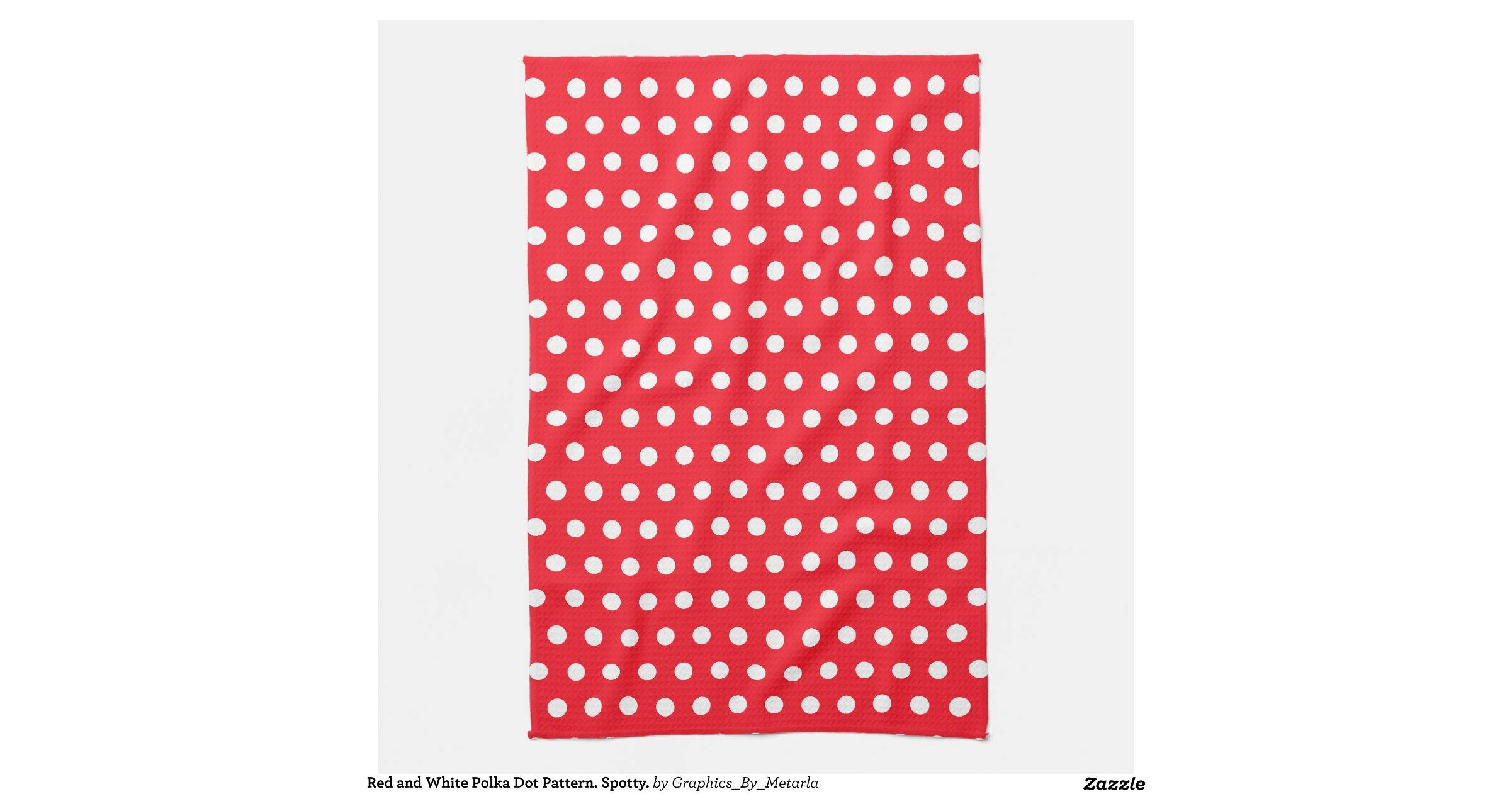 Red and white polka dot pattern spotty towel zazzle for Red and white polka dot pattern