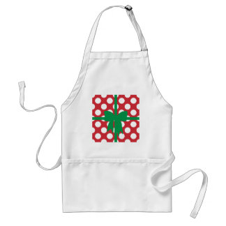 Red and White Polka Dot XMAS Standard Apron