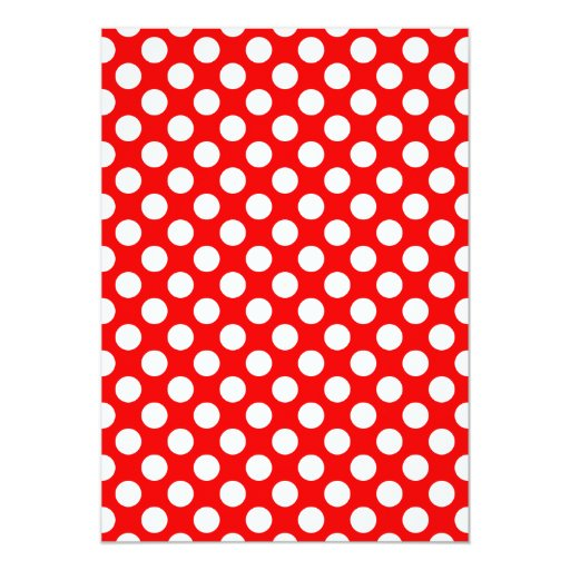 Red and White Polka Dots 13 Cm X 18 Cm Invitation Card