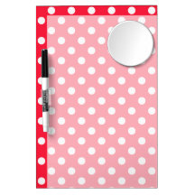 Red and White Polka Dots Dry Erase Board