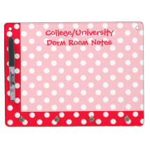 Red and White Polka Dots Dry-Erase Boards