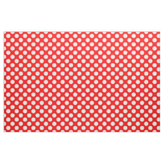 Red and White Polka Dots Fabric