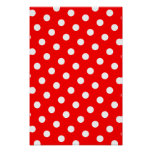 Red and White Polka Dots Poster