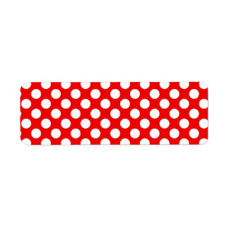 Red and White Polka Dots Return Address Label