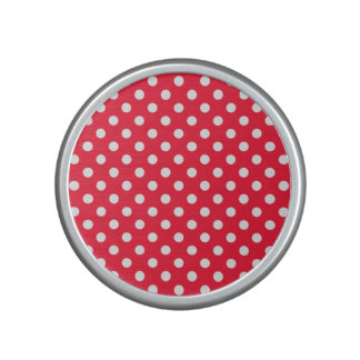 Red and White Polka Dots Speaker