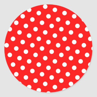 Red and White Polka Dots Stickers
