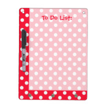 Red and White Polka Dots To Do List