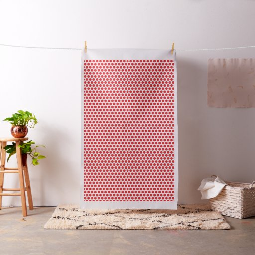 Red and White Polka Dotted Fabric