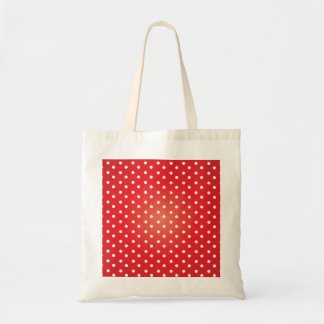 Red and White Polkadot Heaven Budget Tote Bag