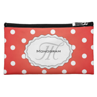 Red and White Polkadot Heaven Makeup Bags