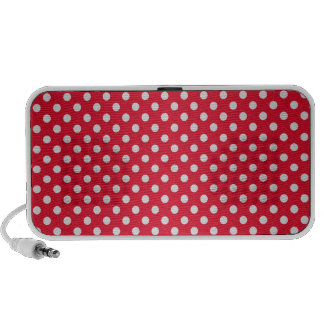 Red and White Polkadots Notebook Speaker