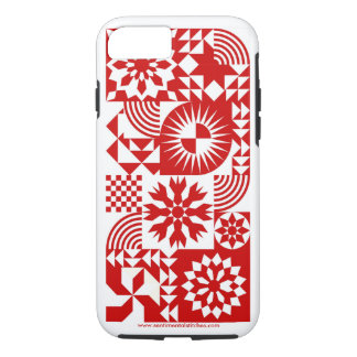 Red and White Quilt iPhone 7 Case