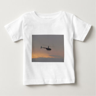 Red and white R44 at sunset. Baby T-Shirt