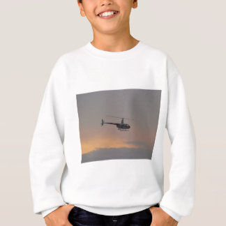 Red and white R44 at sunset. Sweatshirt