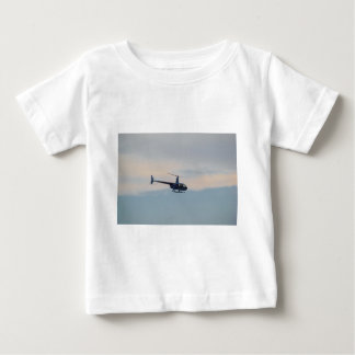 Red and White R44 Helicopter Baby T-Shirt