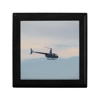 Red and White R44 Helicopter Small Square Gift Box