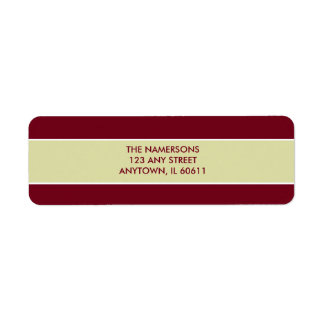 Red and White Return Address Label