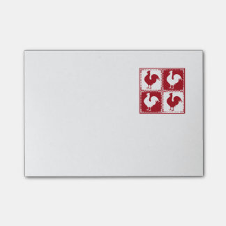 Red and White Rooster Chicken Lovers Post-it Notes