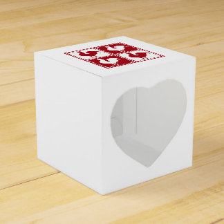 Red and White Rooster Chicken Lovers Wedding Favour Box