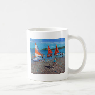 Red and White Sails Abersoch Coffee Mug