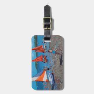 Red and White Sails Abersoch Luggage Tag