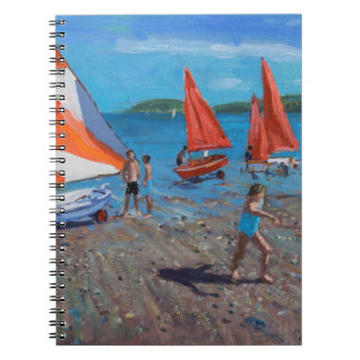 Red and White Sails Abersoch Spiral Notebook