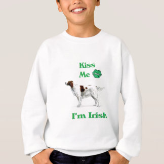 Red and White Setter-Kiss me I'm Irish Sweatshirt