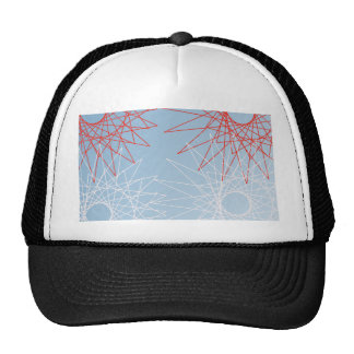 red and white snow. cap
