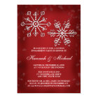 RED AND WHITE SNOWFLAKE COUPLES ENGAGEMENT PARTY CARD