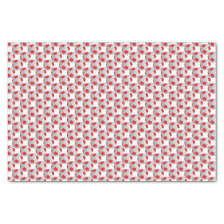 "Red and White Soccer Ball 10"" X 15"" Tissue Paper"