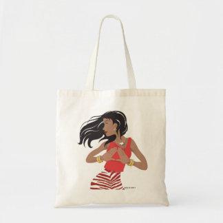 Red and White Sorority (Theta) Tote Bag