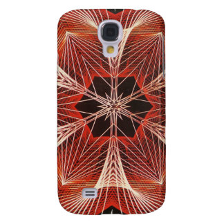 Red and White Spider Web Fractal Art Gifts Samsung Galaxy S4 Case