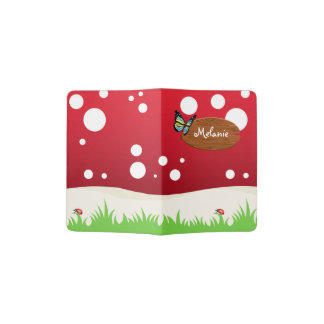 Red and White Spotted Mushroom Passport Holder