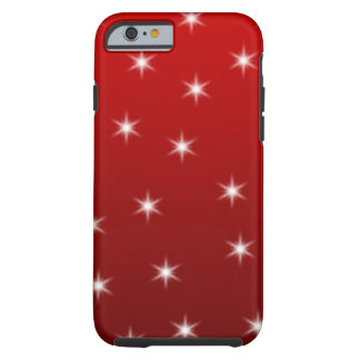 Red and White Stars Pattern. Tough iPhone 6 Case